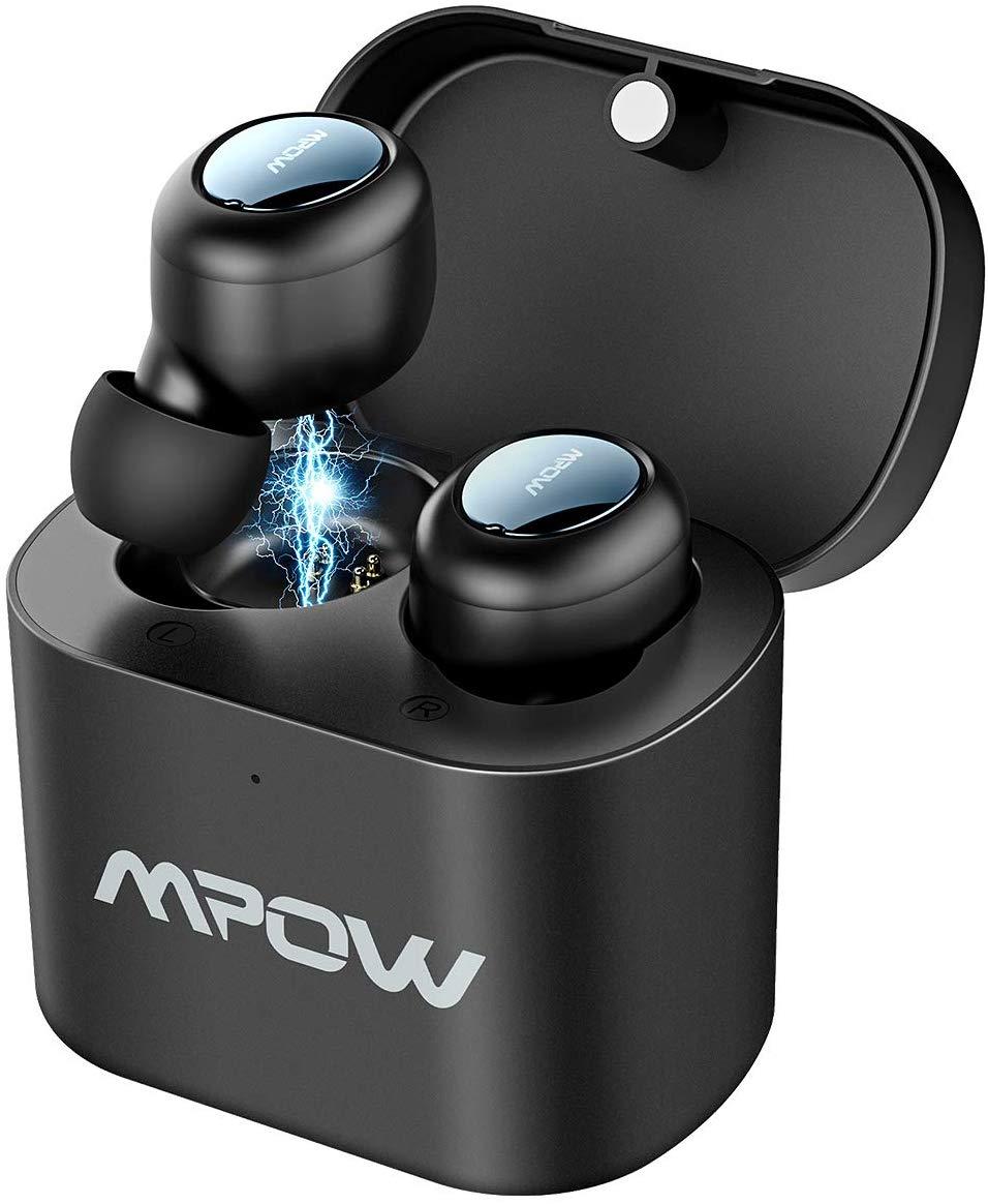 Écouteurs intra-auriculaires Bluetooth 5.0 Mpow avec Micro et Boîte de Recharge - Réduction de Bruit CVC 6.0 (Vendeur tiers)