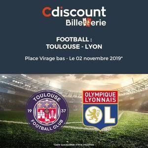 Billet match de football de Ligue 1 Toulouse-Lyon - Virage bas, Billets envoyés par mail