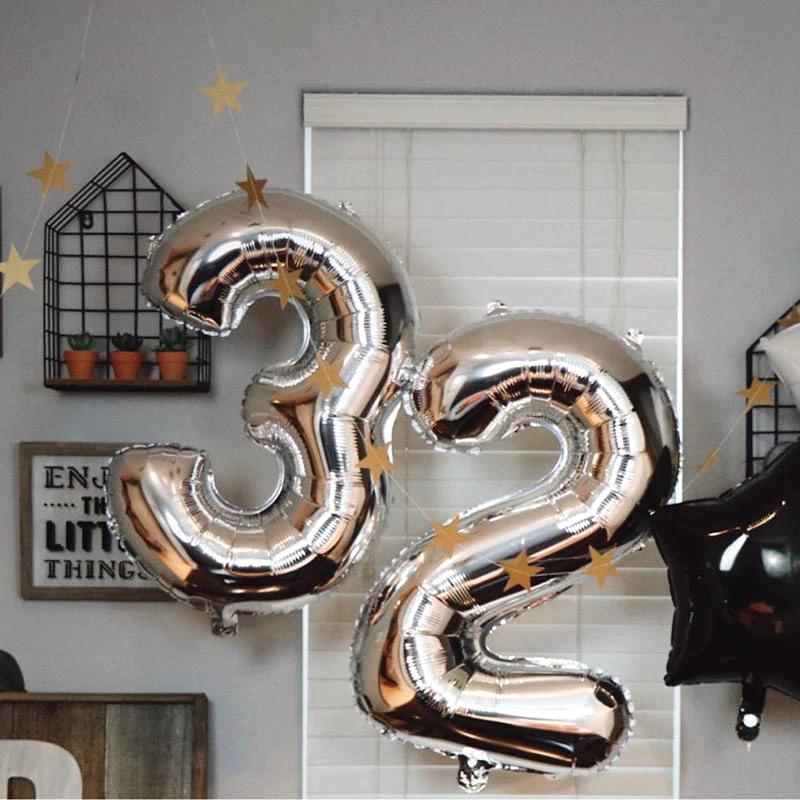 Ballon à chiffres pour anniversaire (de 0 à 9 - différents coloris)