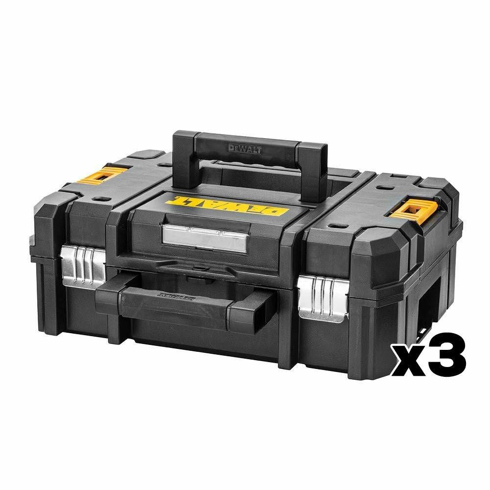 Lot de 3 Coffrets solid avec poignée court DeWalt TSTAK-Box II