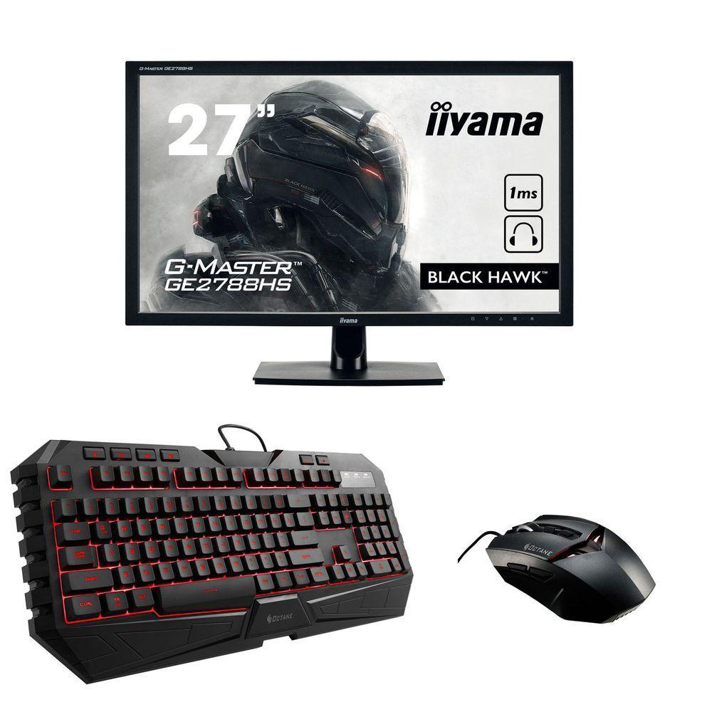 "Pack Ecran PC 27"" Iiyama G-Master GE2788HS-B1 + Clavier Cooler Master CM Storm Octane + Souris MS35"