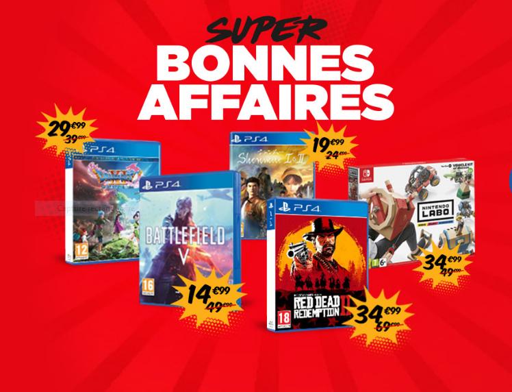 Sélection de jeux PS4 : à partir de 0,49 €