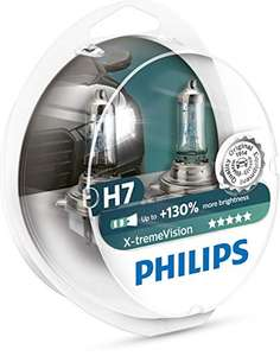 Lot de 2 Ampoules de Phare Avant Philips 12972XV+S2 X-tremeVision +130% H7
