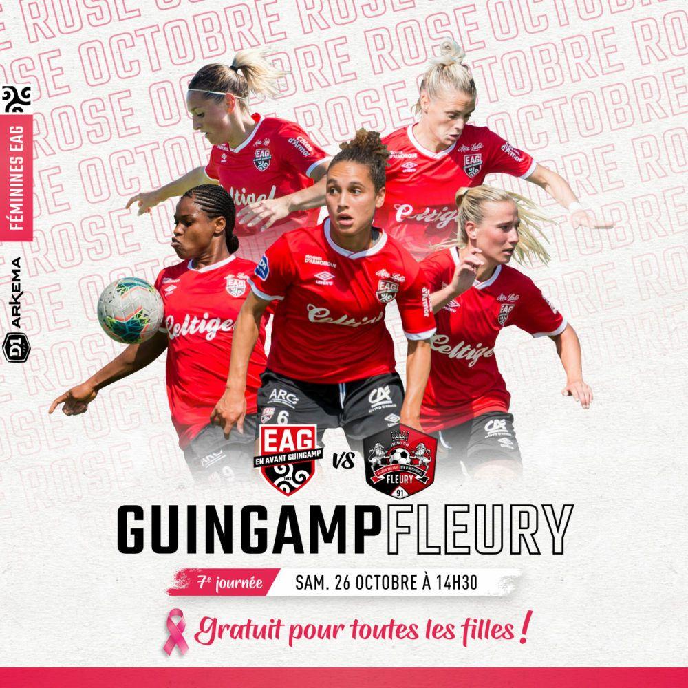 [Femmes] Billet gratuit pour le match de football Division 1 féminine EA Guingamp / Fleury - le samedi 26/10 (14 h 30), à Guingamp (22)