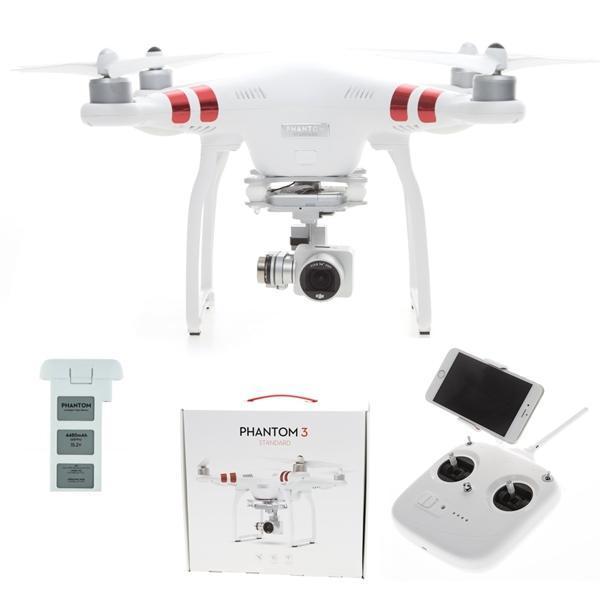 Drone DJI Phantom 3 Standard Blanc avec caméra