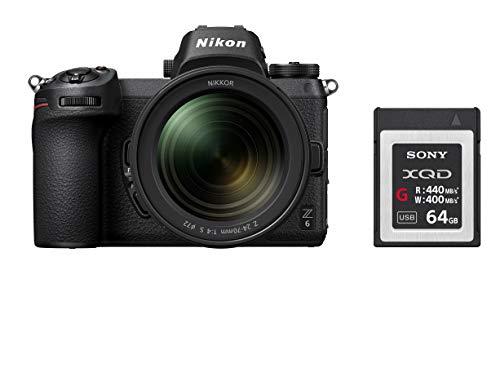 Pack appareil photo hybride Nikon Z6 (24.5 Mpix, CMOS) + objectif Nikkor 24-70 mm f/4 + carte SD Sony XQD (64 Go)