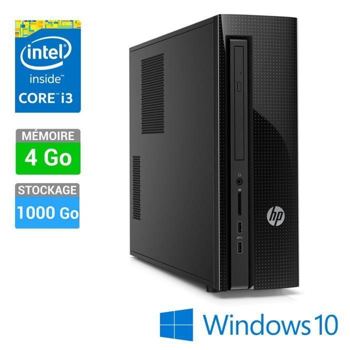 PC de bureau HP Slimline 410-000nf + Souris HP X1500 (50€ ODR)