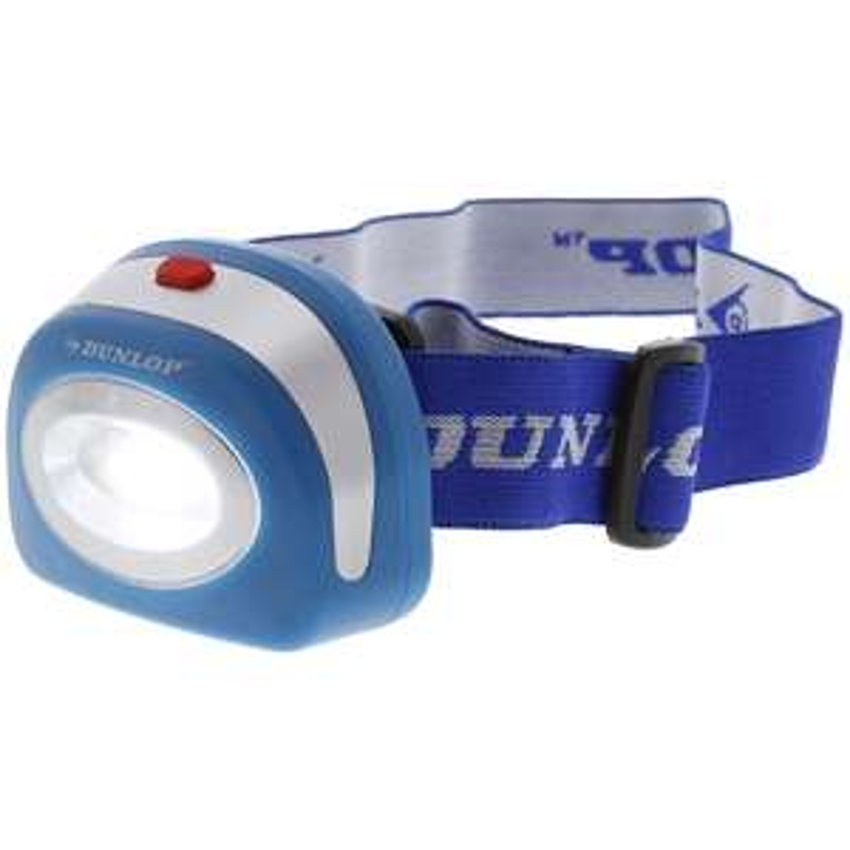 Lampe frontale Dunlop - LED, bandeau ajustable, différents coloris