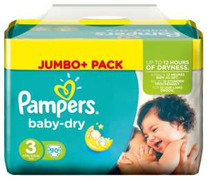 Pack de 90 Couches Pampers Jumbo
