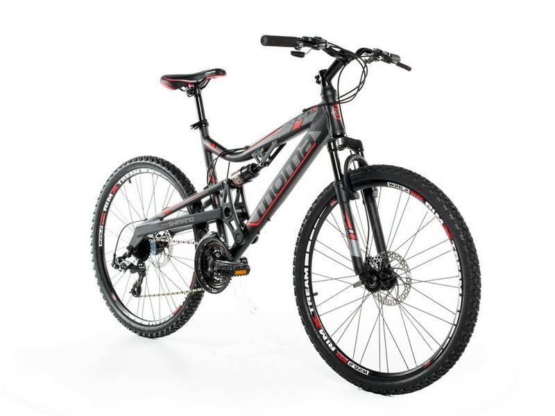 "VTT Tout Suspendu 26"" Moma Bikes - Shimano 24V, taille M,L,XL"