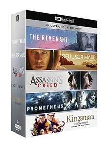 Coffret Blu-ray 4K The Revenant + Seul sur Mars + Assassin's Creed + Prometheus + Kingsman : Services secrets