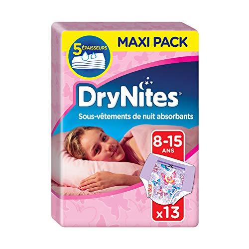 Lot de 4 paquet de 13 couches de nuit DryNites - 8-15 Ans, 27-57 kg