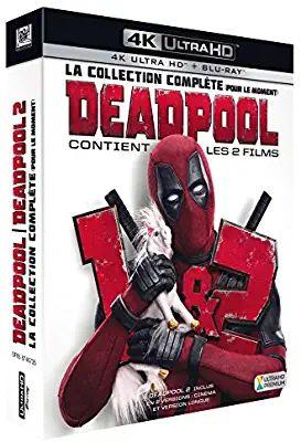 Coffret Blu-ray 4k Deadpool 1 & 2