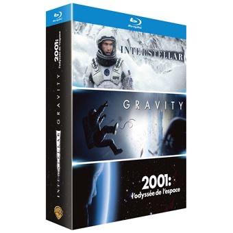 Coffret Blu-ray: Interstellar + Gravity + 2001 l'odyssée de l'espace