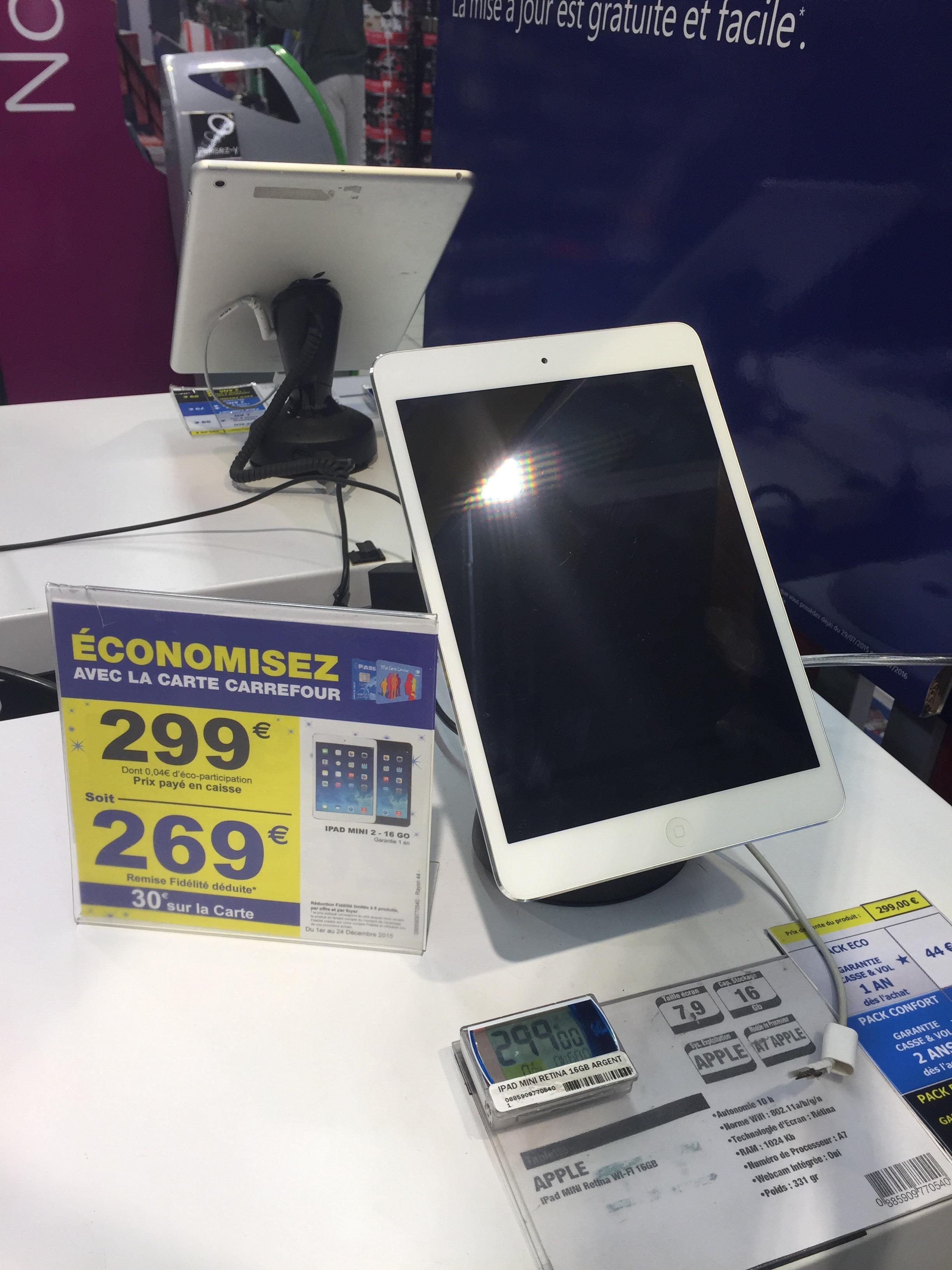 """Tablette 7.9"""" iPad Mini Retina Wifi - 16 Go (avec 30€ sur la carte)"""