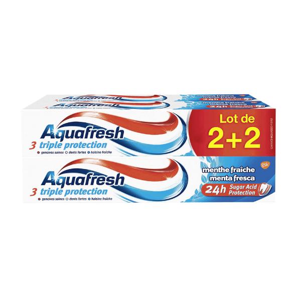 4 Dentifrices Aquafresh Triple Protection