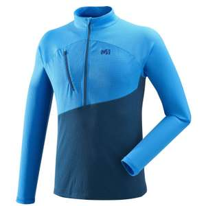 T-shirt d'alpinisme Homme Millet Elevation Zip LS (Electric Blue) - Taille XS