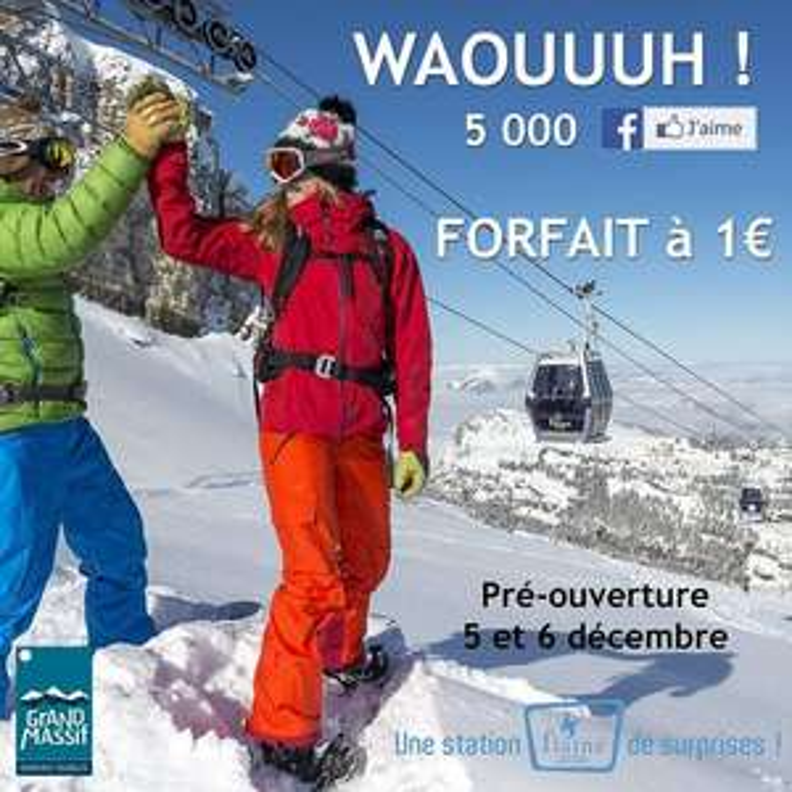 Forfait ski journée Flaine (5-6 décembre)