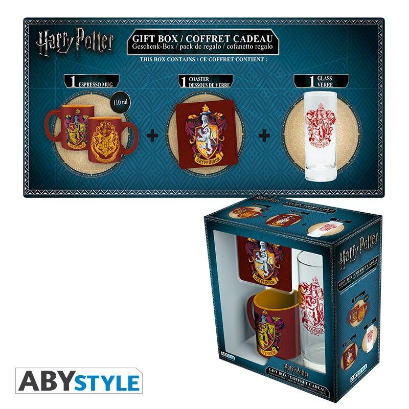 Coffret Harry Potter - Mini-mug + Verre 29 cl + Sous-verre - Gennevilliers (92)