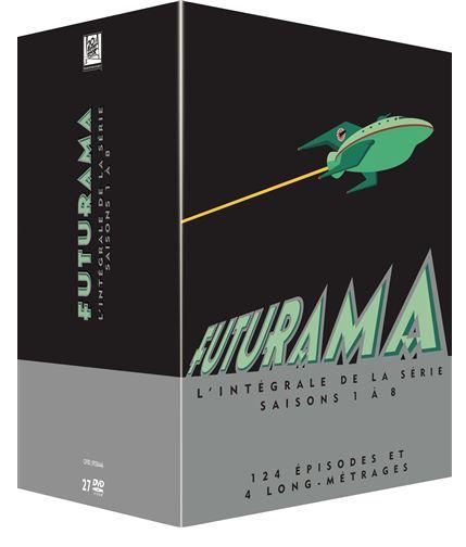 Coffret DVD : Futurama Saisons 1 à 8 + 4 longs métrages Coffret Megapack