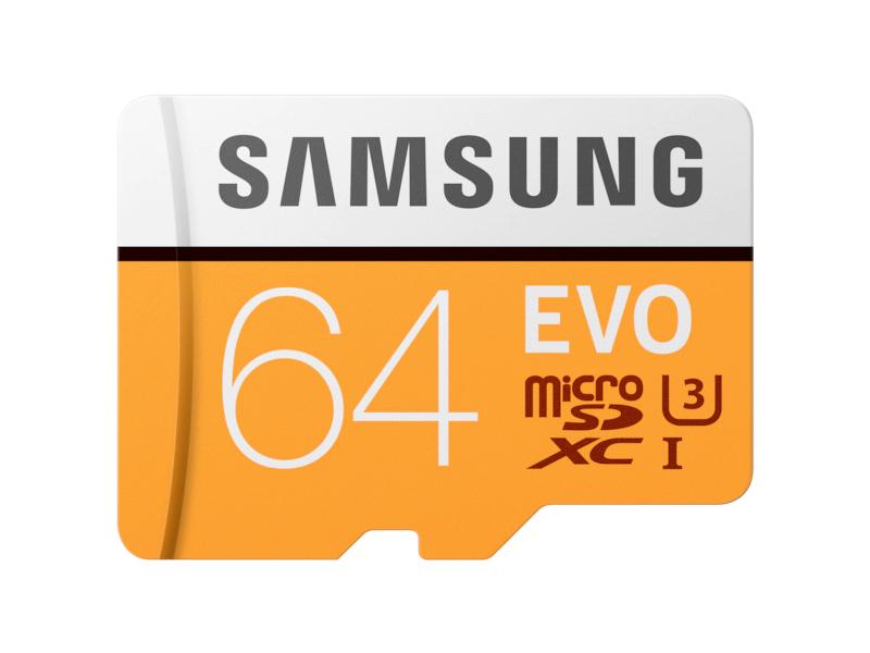 Carte microSDXC Samsung EVO U3 - 64 Go