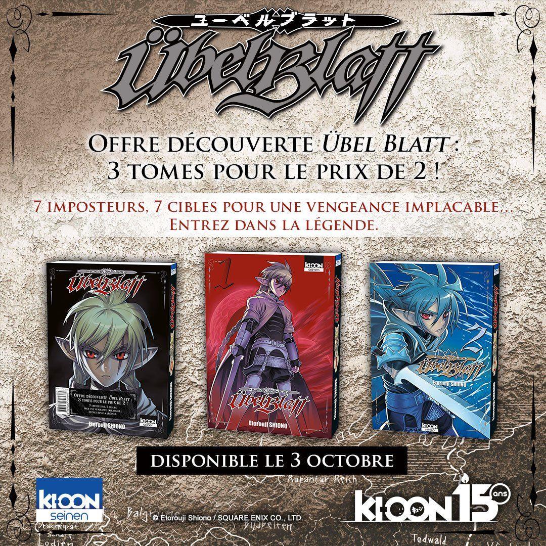 Manga Übel Blatt - 3 Tomes au prix de 2 (Tous les marchands)