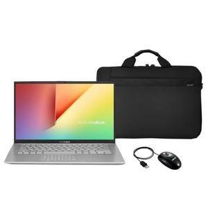 "Pack PC portable 14"" Asus VivoBook S12 (4Go RAM, 128Go SSD, Numpad) +  Sacoche + Souris"