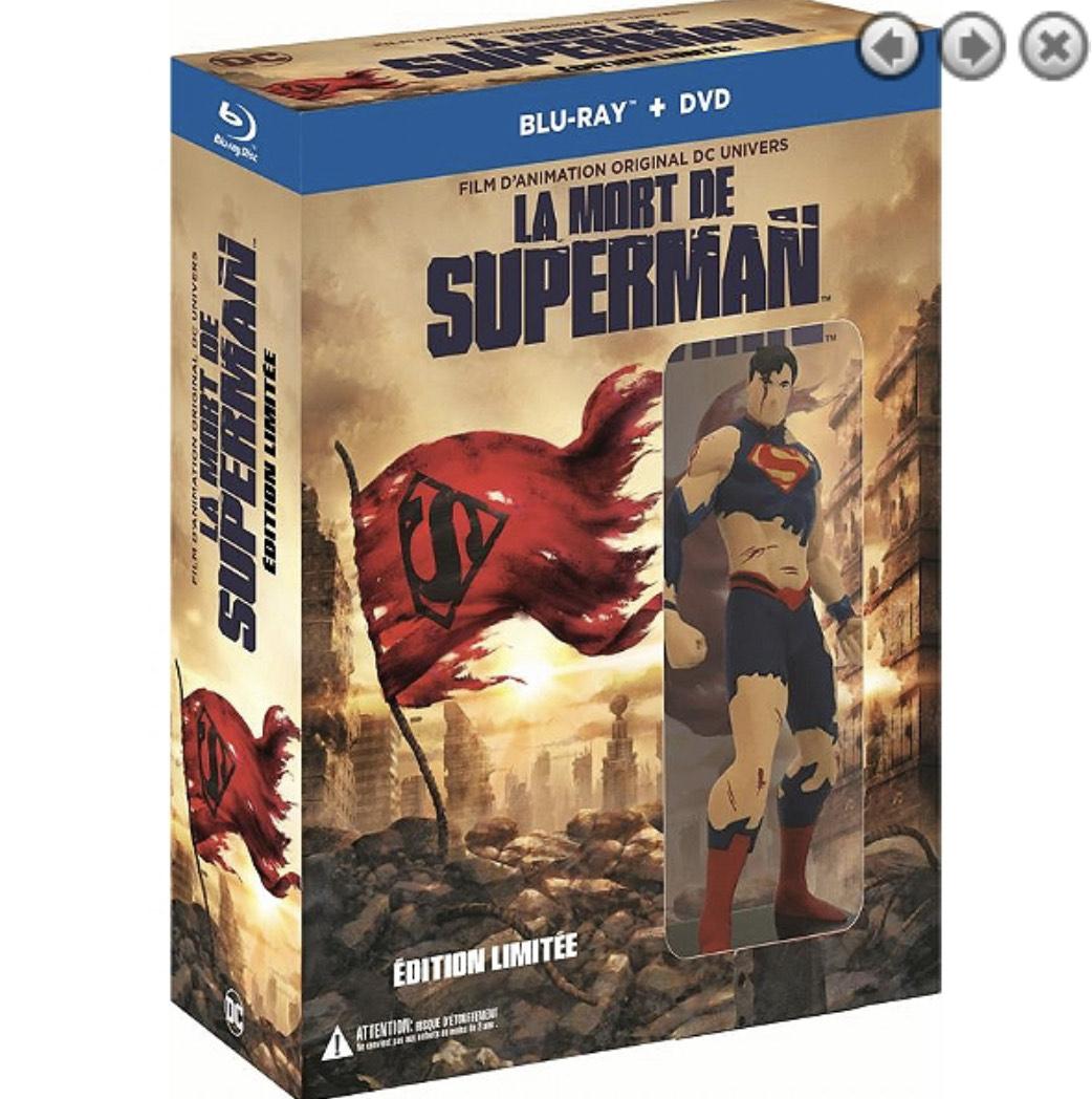 Coffret Blu-Ray Superman : la mort de Superman + le retour de Superman (Film d'animation)