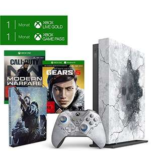 Pack Console Microsoft Xbox One X 1 To + Bundle Gears 5 Edition Limitée + Call of Duty: Modern Warfare + 1 mois d'essai au Xbox Live Gold