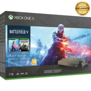 Pack Console Microsoft Xbox One X - 1To Édition Battlefield V + Call of Duty: Modern Warfare + Figurine Captain Price