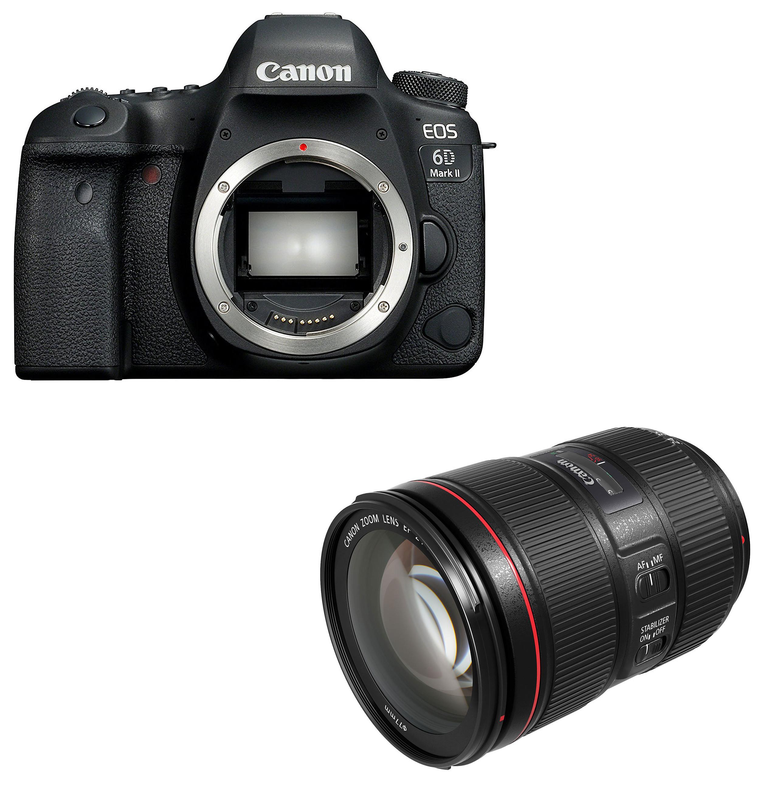 [Adhérents] Appareil photo Reflex Canon EOS 6D Mark II + Objectif Canon EF 24-105 mm f/4L IS II USM (+ 190€ sur la carte) - Via ODR de 80€