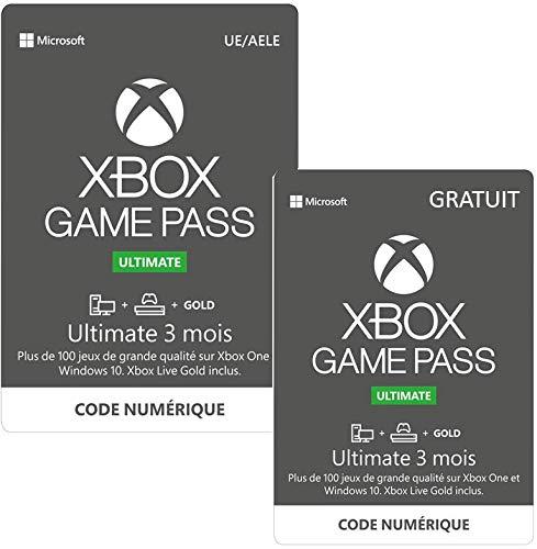 Abonnement Xbox Game Pass Ultimate 3 mois + 3 Mois Gratuit pour Xbox One/PC Win 10 (Dématérialisé)