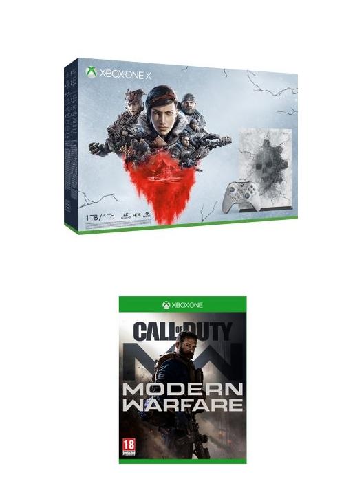 [Adhérents] Console Xbox One X Edition Limitée Gears 5 Ultimate - 1 To + Call of Duty Modern Warfare + Grip (+ 40€ sur la carte fidélité)