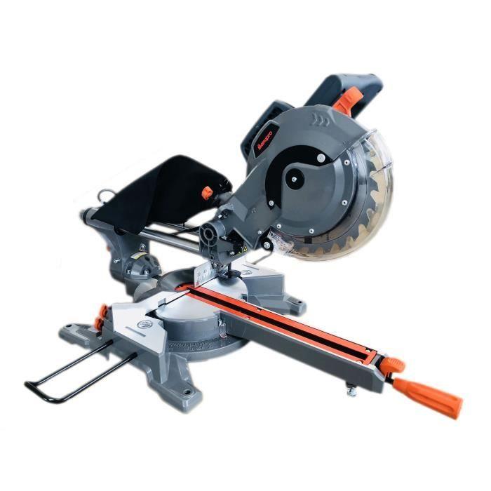 Scie à onglet radiale Manupro - 2 lames multi matériau 210 mm S1/S6 ,1450/1650 W (et support à 39.90€)