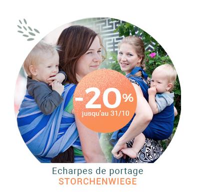 -20% sur les écharpes de portage Storchenwiege