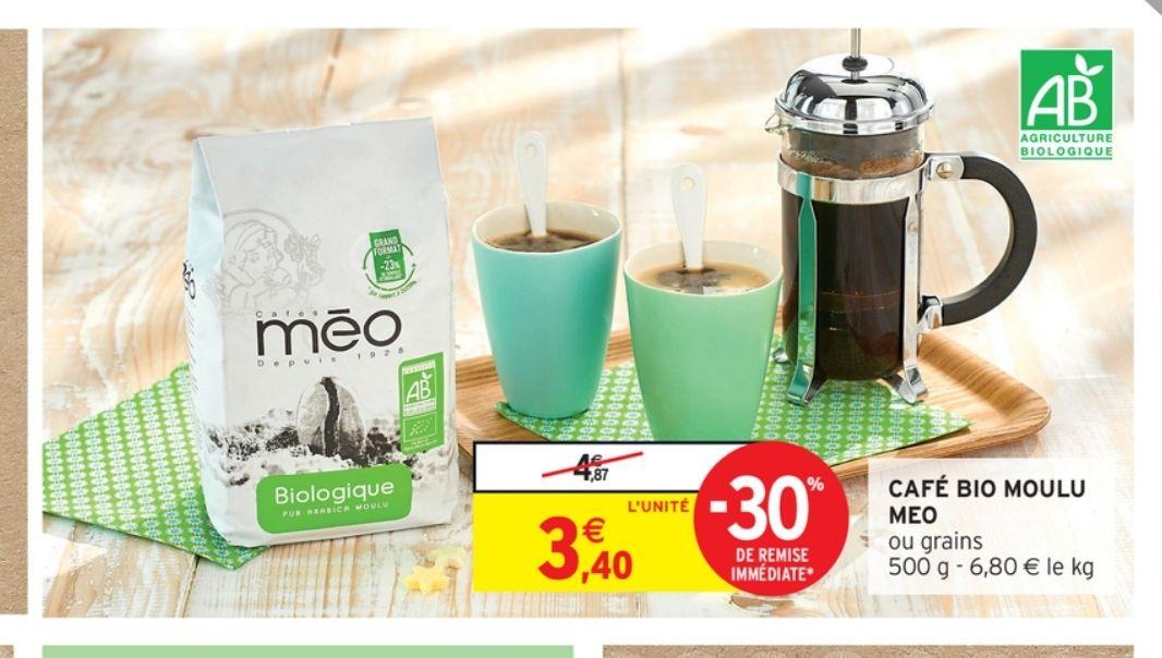 Café Moulu Biologique Meo (via Shopmium)
