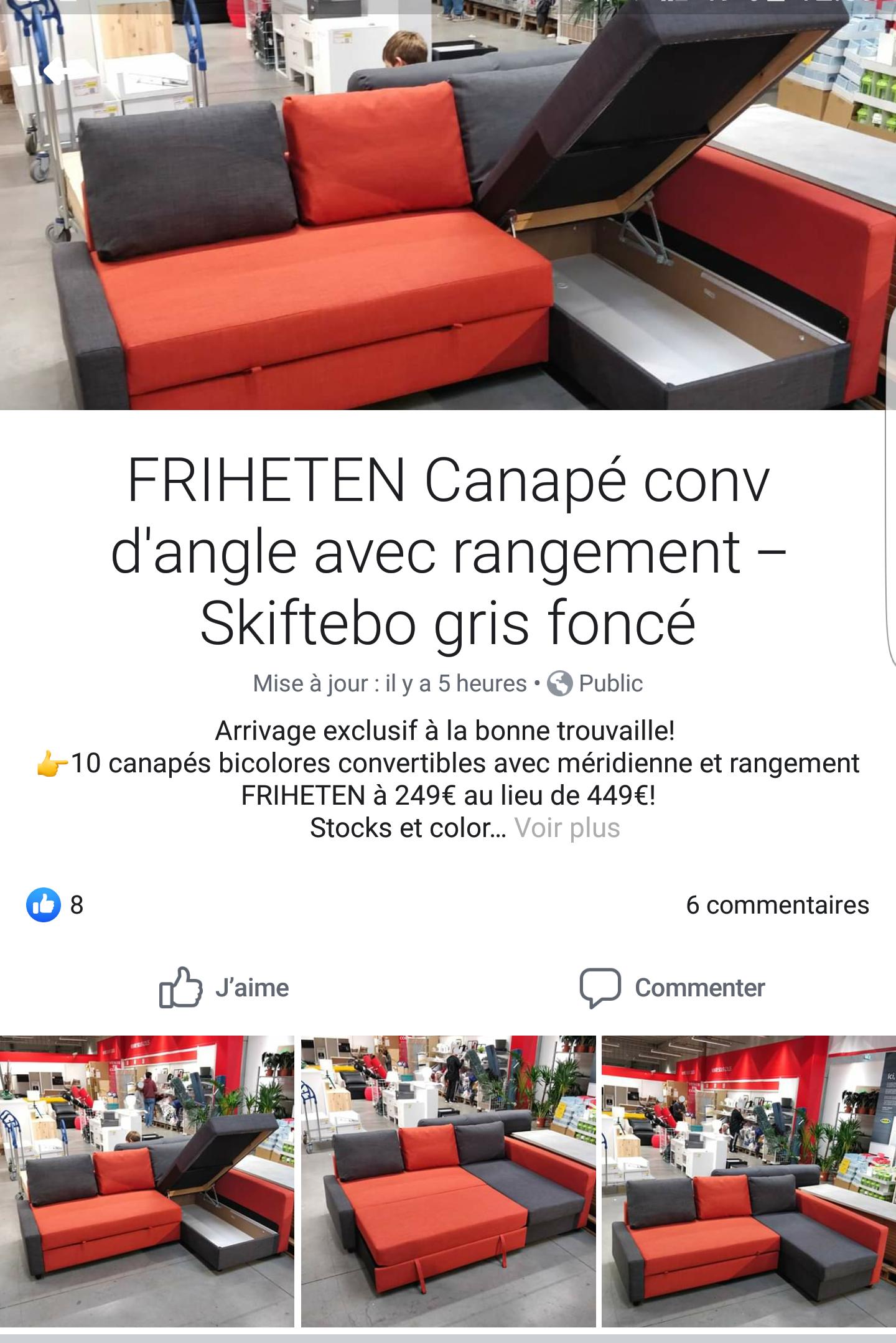 Canapé convertible Frihenten - Occasion, Ikea Henin Beaumont (62)