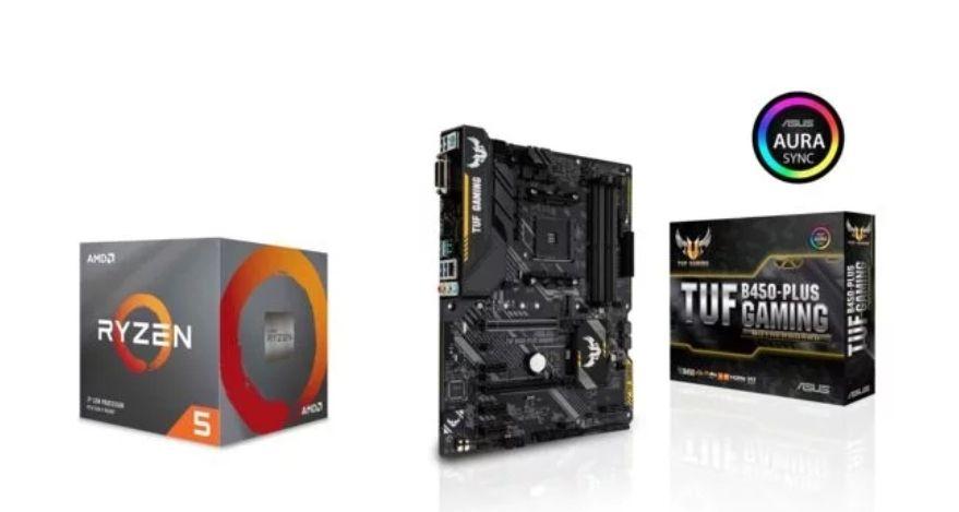 Processeur AMD Ryzen 5 2600 Wraith Stealth Edition - 3,4/3,9 GHz + Carte Mère TUF B450-Plus Gaming