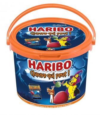 Seau de bonbons Haribo 1kg - 26 sachets