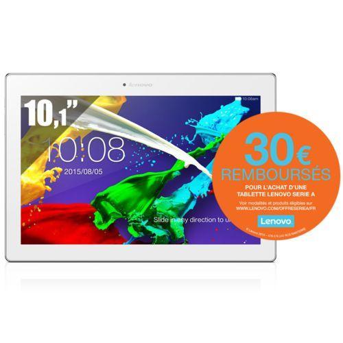 "Tablette 10.1"" Lenovo IdeaTab 2 A10-70 - 16 Go (Avec ODR 30€) Bleue ou blanche"