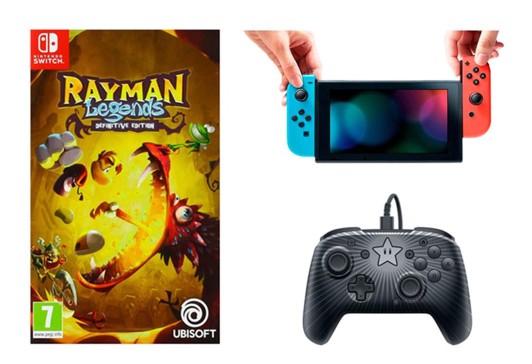 Sélection de consoles - Ex : Nintendo Switch + Jeu Rayman Legends + 1 manette PDP Mario (287.1€ pour les adhérents Macif)