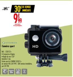 Caméra sportive Storex - 720p, Étanche