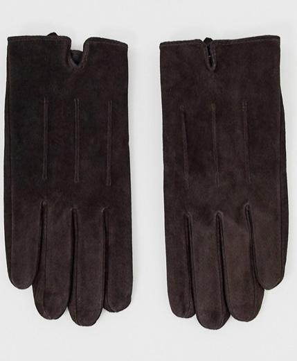 Paire de gants en daim Barneys Original - Utilisables avec un écran, Marron, M / L ou L / XL