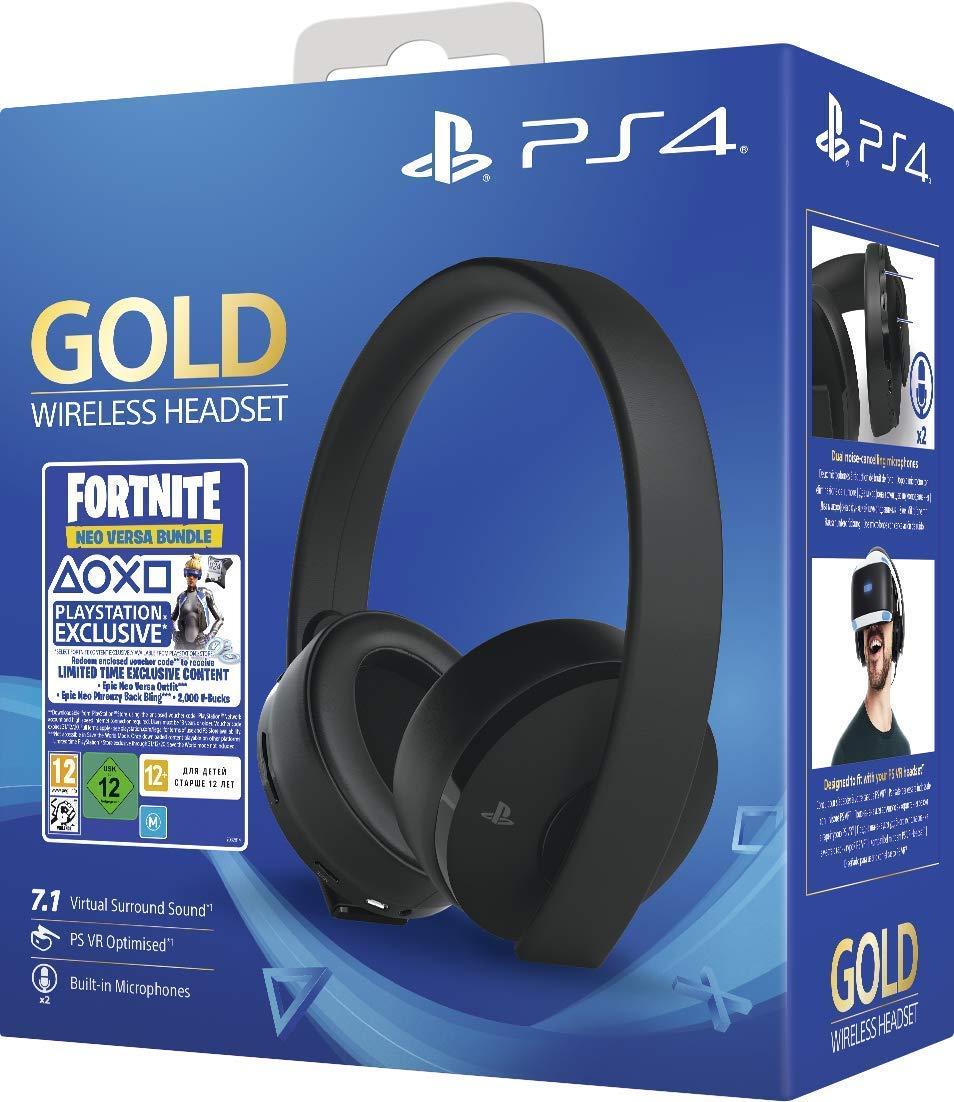 Casque Sans-fil Sony Gold Edition pour PS4 + Voucher Fortnite