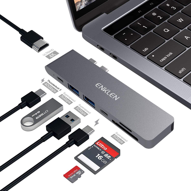 Hub USB C Enklen Pour MacBook Pro 2016/2017/2018/2019 (vendeur tiers)