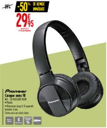 Casque audio sans-fil Pioneer SE-MJ553BT - noir