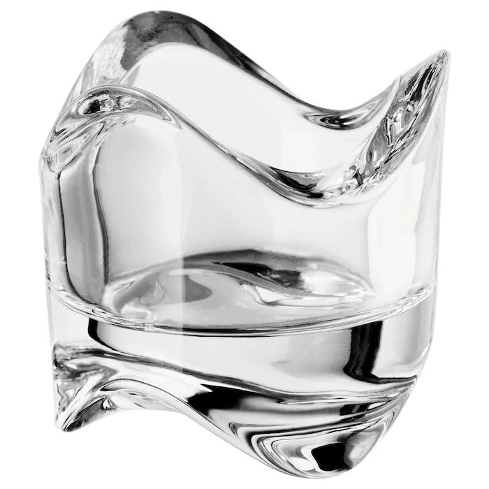 Photophore en verre transparent VÄSNAS - 6cm