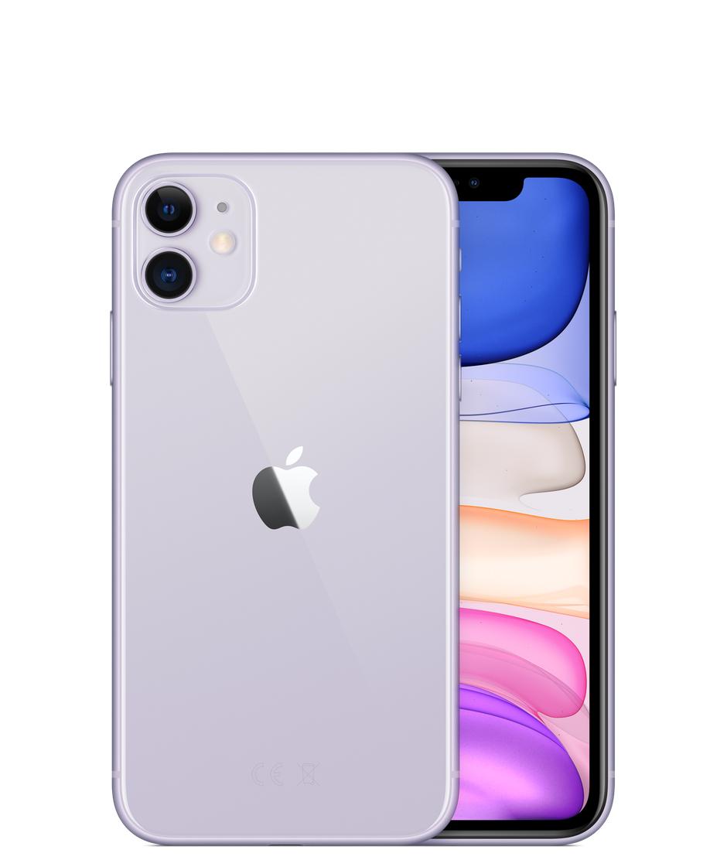 """Smartphone 6.1"""" Apple iPhone 11 A2221 - 64 Go, Débloqué, Violet"""