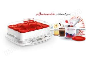 Yaourtière Seb Multidelices Express - 12 pots, Rouge
