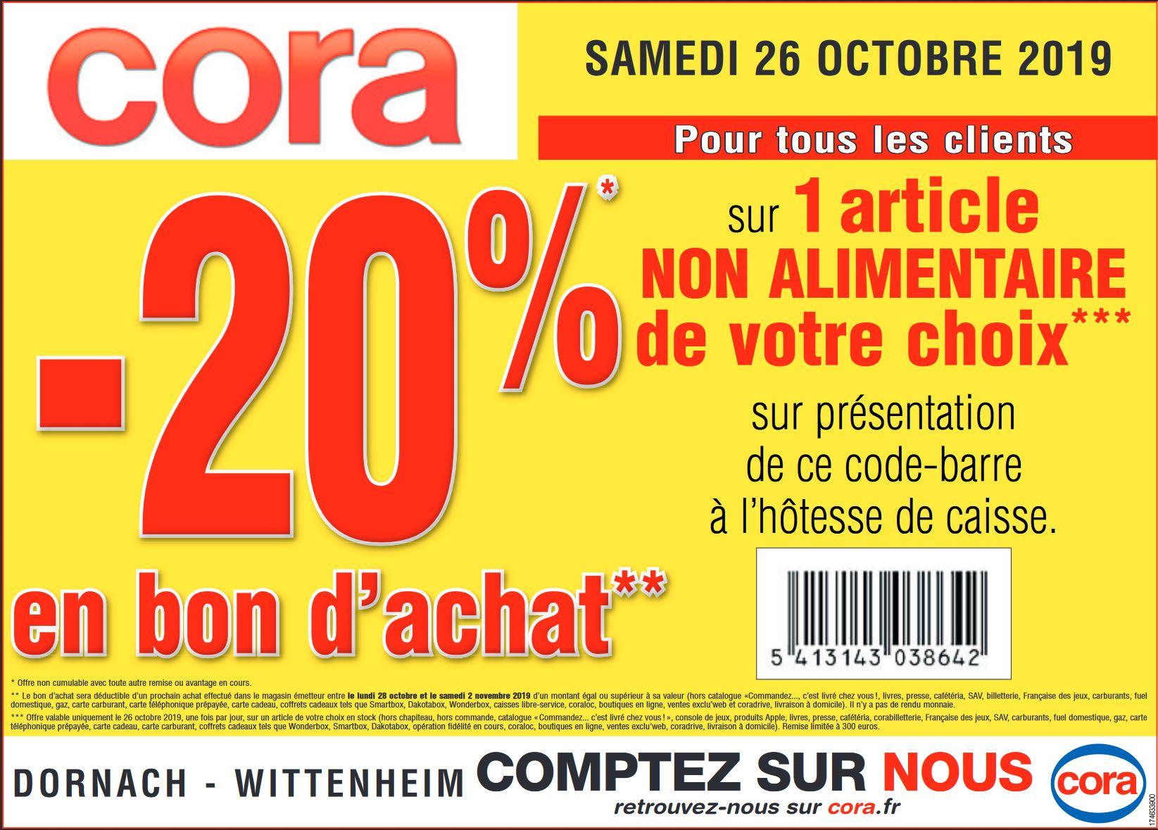 20% en bon d'achat pour l'achat d'un article non alimentaire au choix - Mulhouse (68)